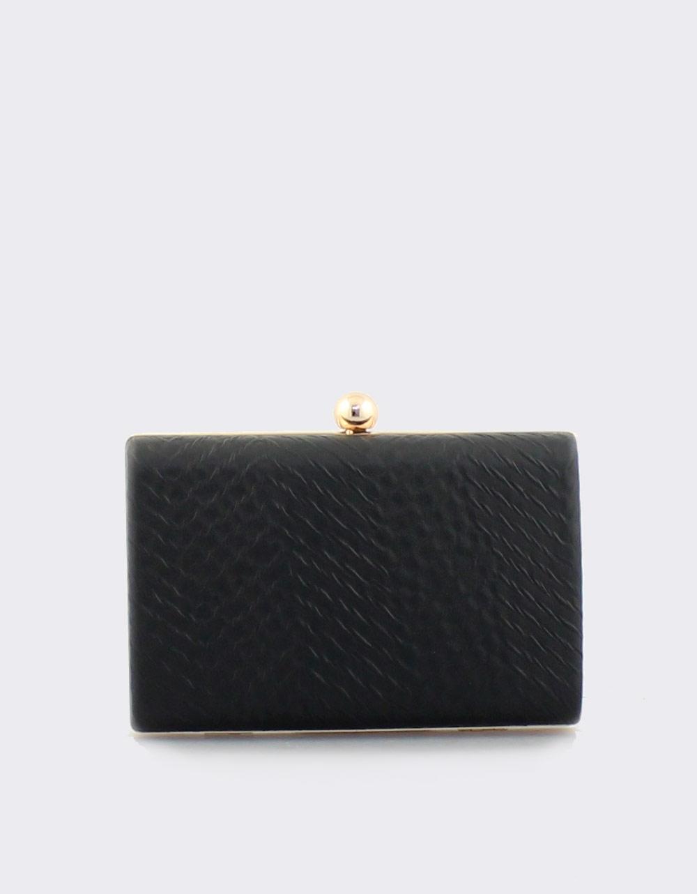 Εικόνα από Γυναικείοι φάκελοι clutch με ανάγλυφη υφή Μαύρο