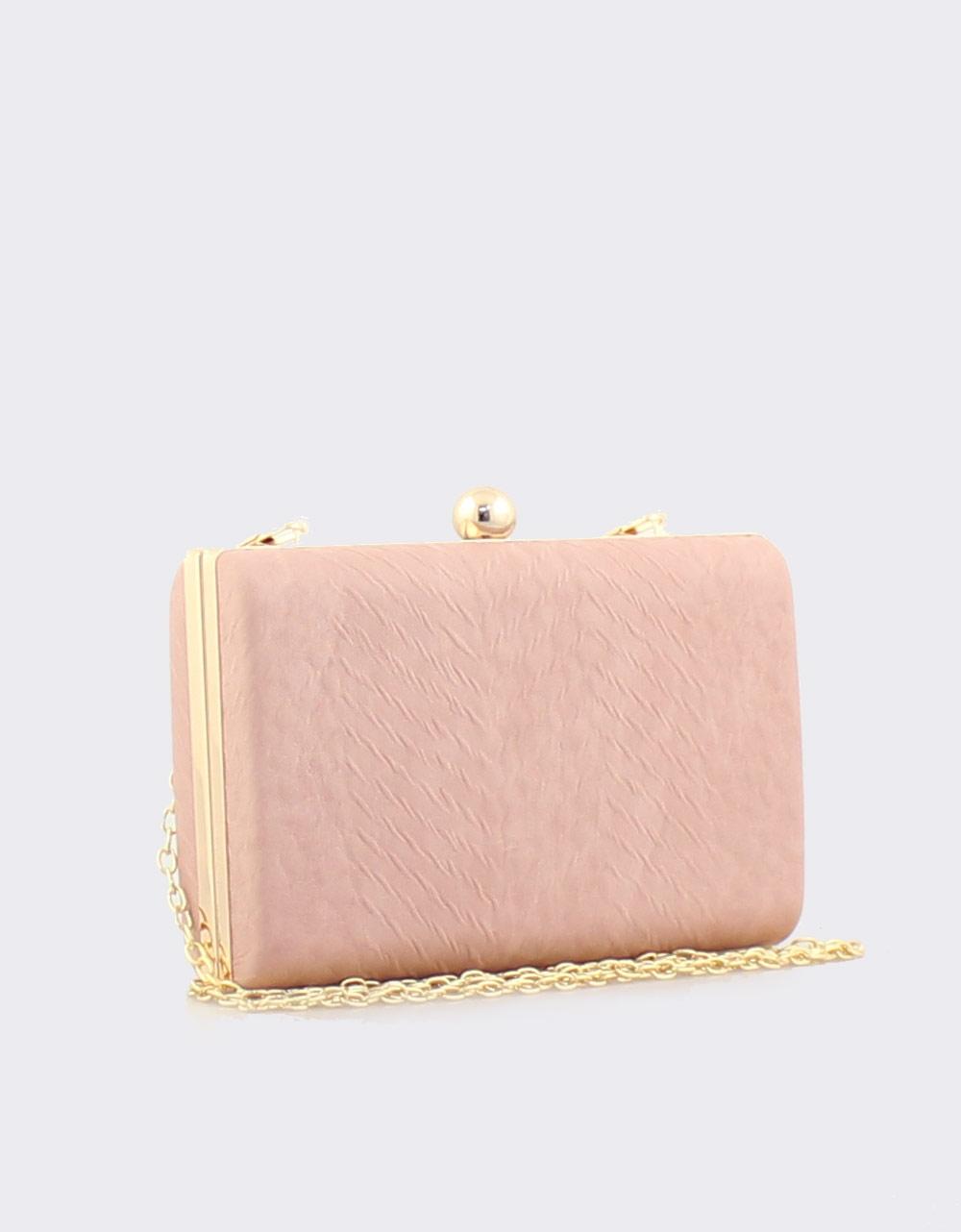 Εικόνα από Γυναικείοι φάκελοι clutch με ανάγλυφη υφή Ροζ