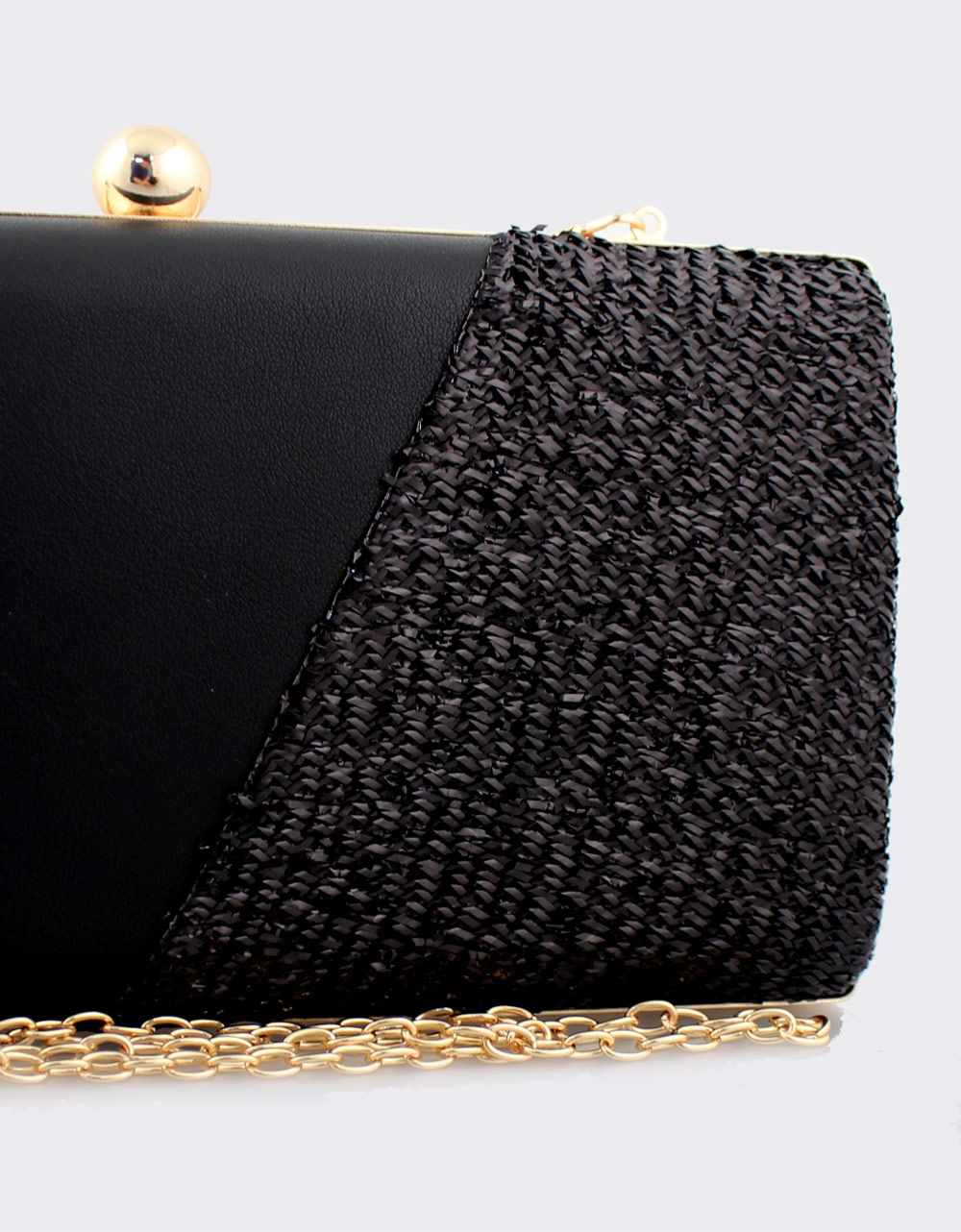 Εικόνα από Γυναικείοι φάκελοι clutch με ανάγλυφη λεπτομέρεια Μαύρο