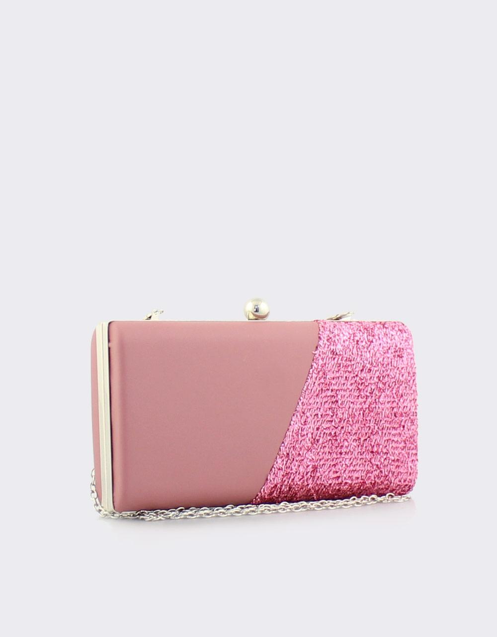 Εικόνα από Γυναικείοι φάκελοι clutch με ανάγλυφη λεπτομέρεια Ροζ