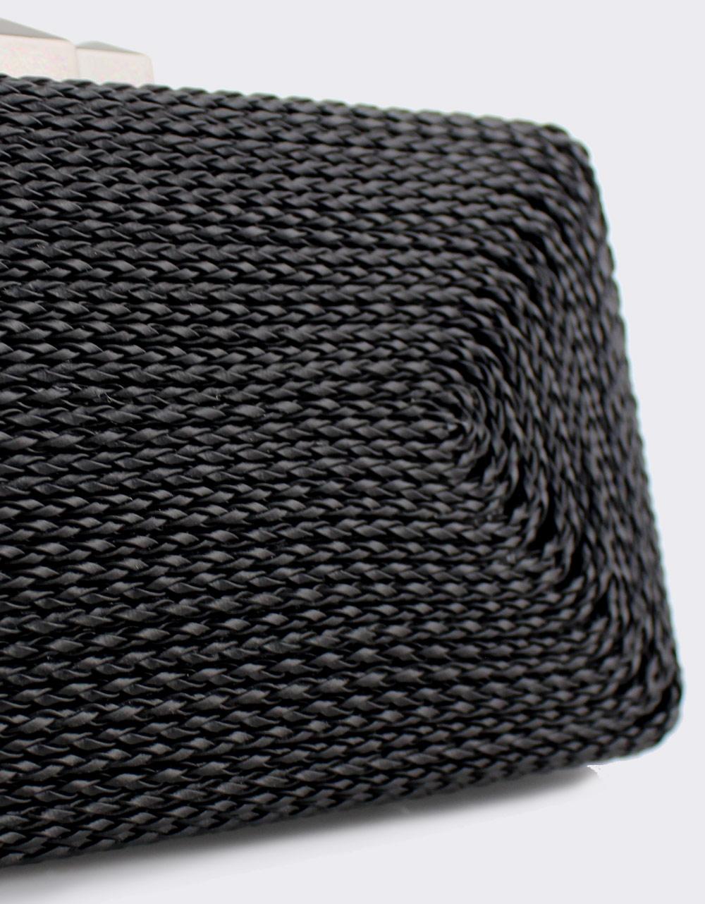 Εικόνα από Γυναικείοι φάκελοι clutch με ανάγλυφο μοτίβο Μαύρο