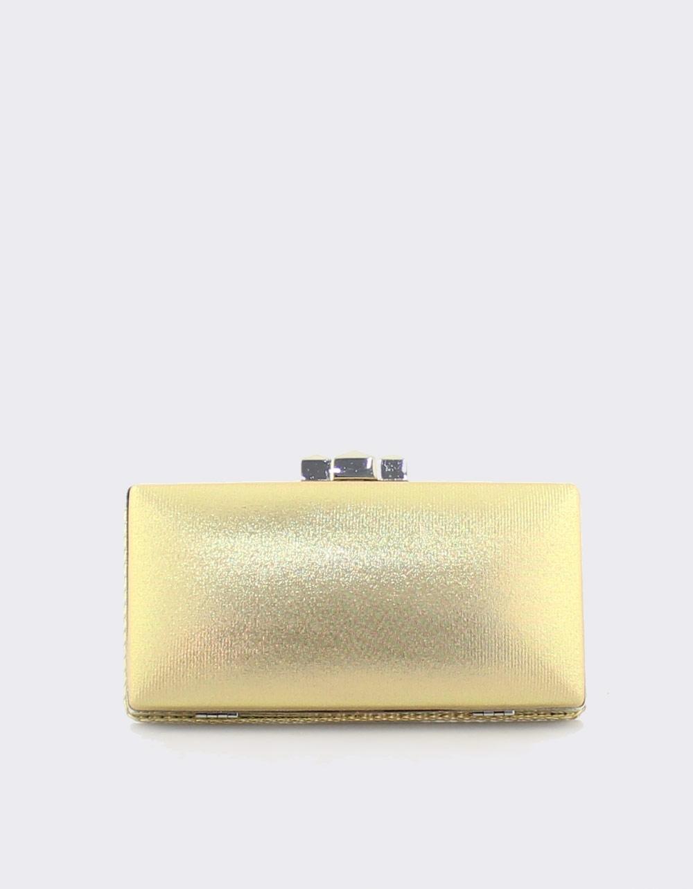 Εικόνα από Γυναικείοι φάκελοι clutch με ανάγλυφο μοτίβο Χρυσό