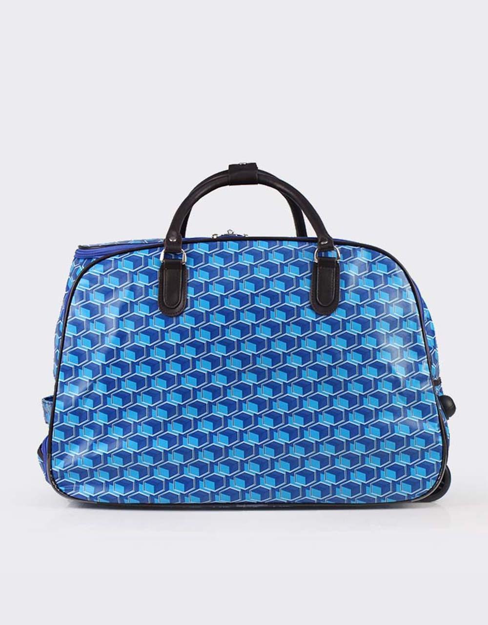 Εικόνα από Γυναικείες τσάντες ταξιδίου με μοτίβο Μπλε