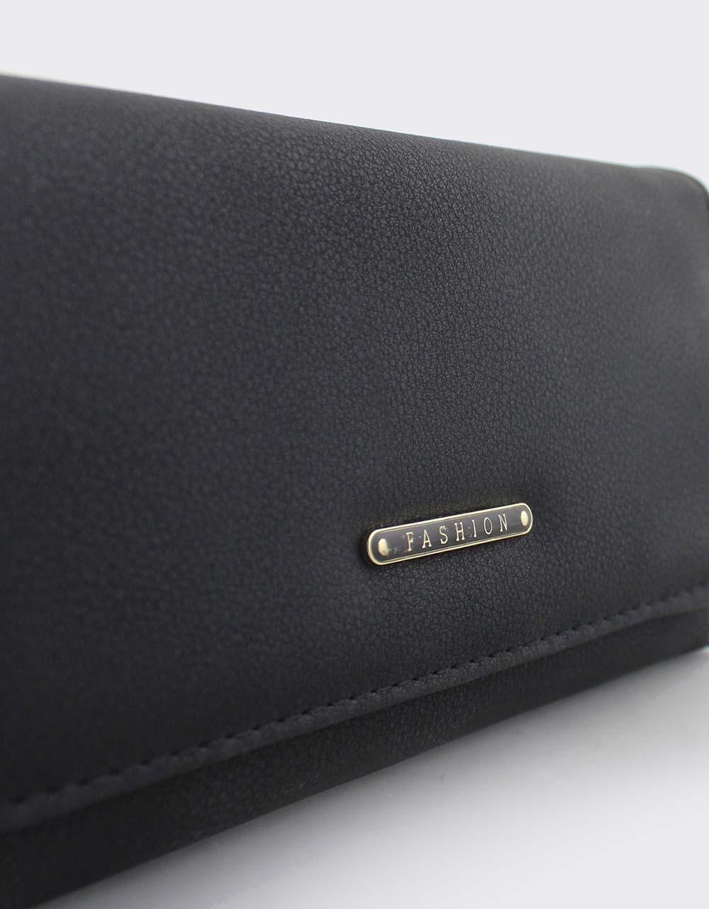Εικόνα από Γυναικεία πορτοφόλια σε απλή γραμμή Μαύρο
