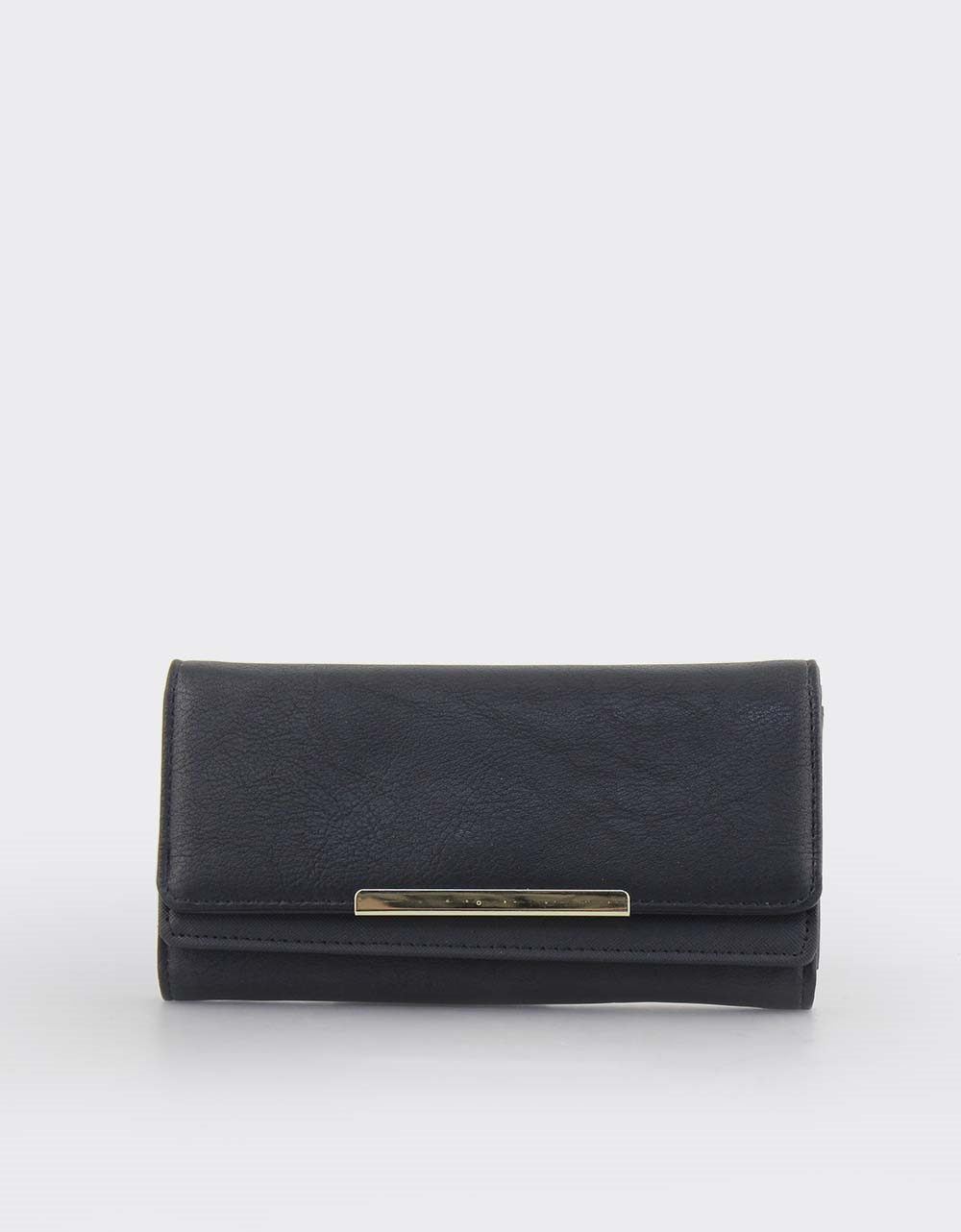 0c1918c80b Εικόνα από Γυναικεία πορτοφόλια με μεταλλικό διακοσμητικό Μαύρο
