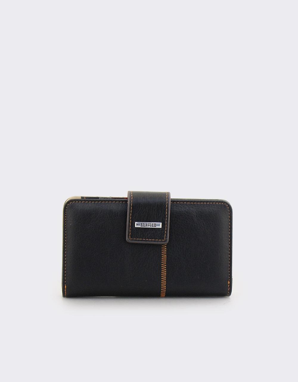 28dfca3e58 Εικόνα από Γυναικεία πορτοφόλια δερμάτινα με διακοσμητική λεπτομέρεια Μαύρο