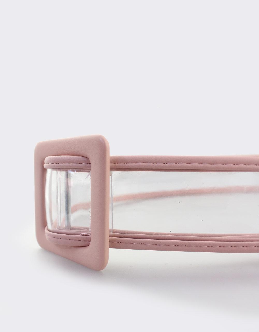 ea6fd827fb Εικόνα από Γυναικείες ζώνες με διαφάνεια Ροζ