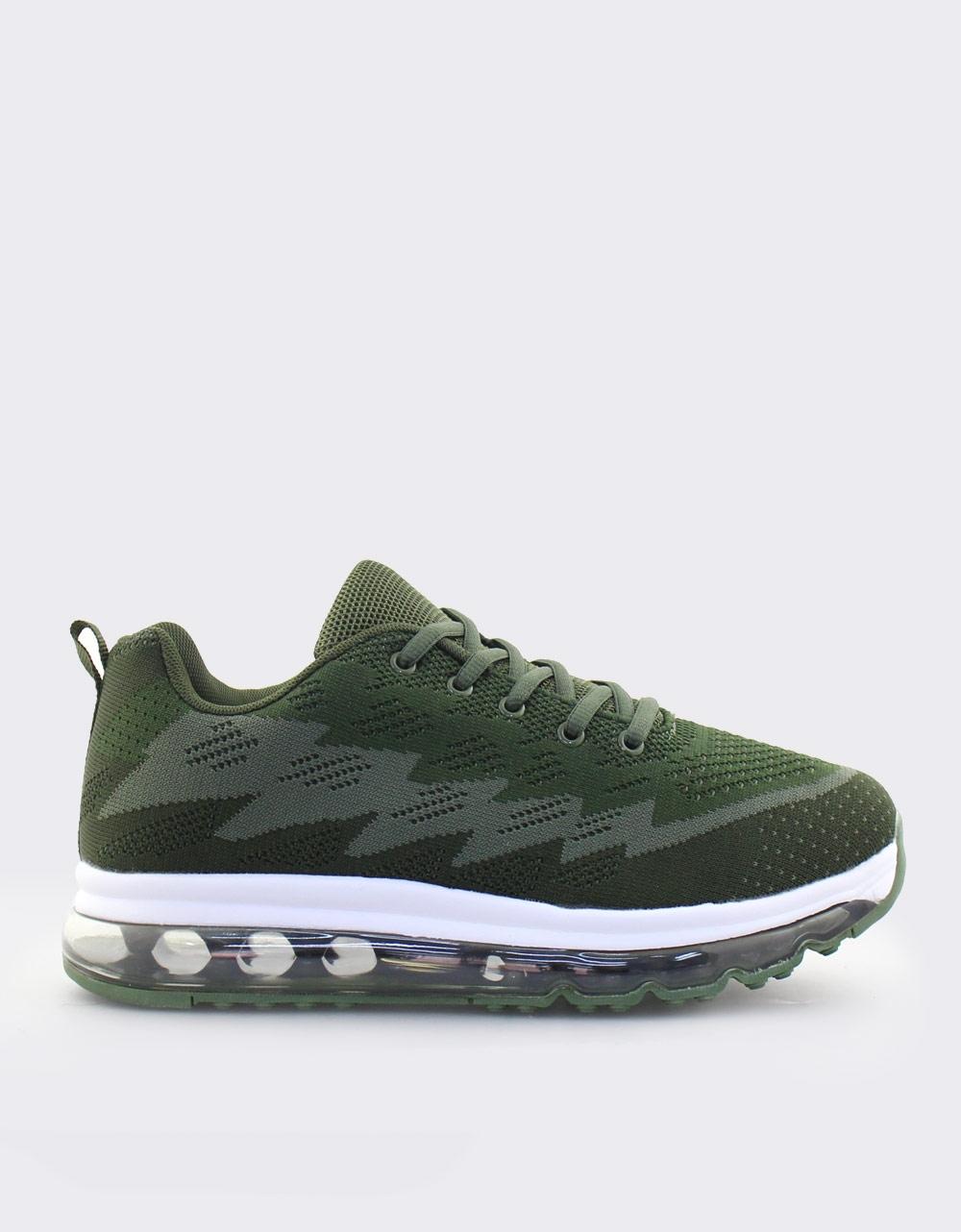 Εικόνα από Ανδρικά sneakers με δίχρωμο σχέδιο Χακί