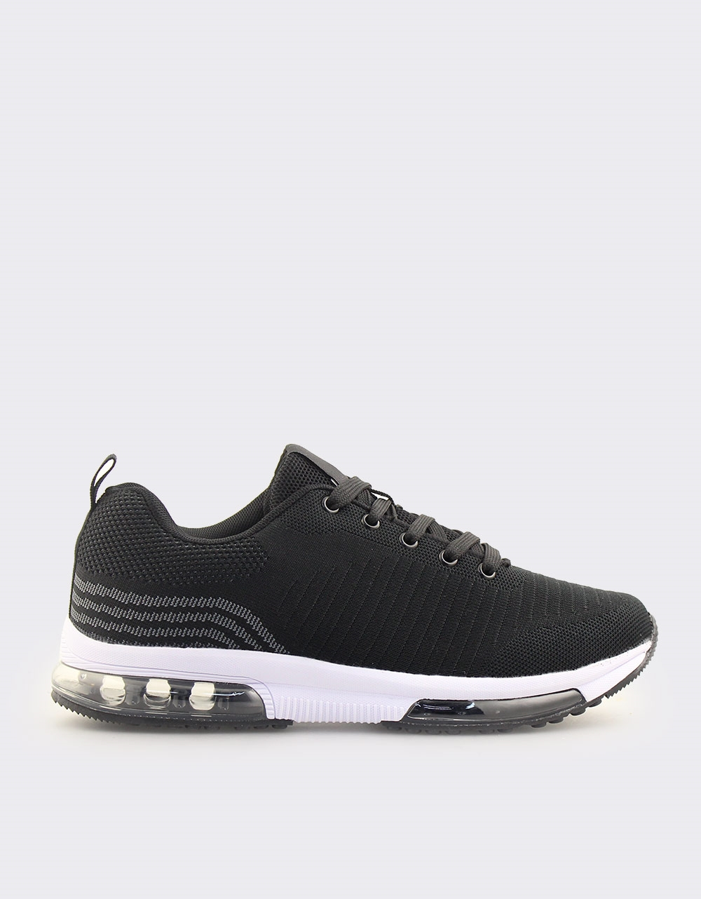 Εικόνα από Ανδρικά sneakers με αερόσολα Μαύρο/Λευκό