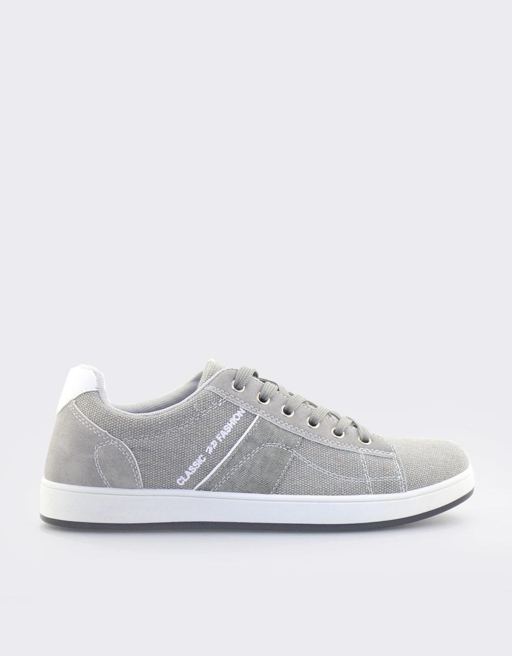 Εικόνα από Ανδρικά sneakers με διακοσμητικές ραφές Γκρι