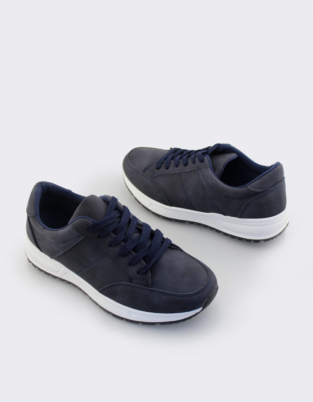 Εικόνα από Ανδρικά sneakers σε απλή γραμμή Navy