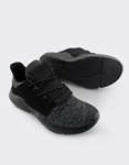 Εικόνα από Ανδρικά sneakers με δίχρωμη λεπτομέρεια Μαύρο
