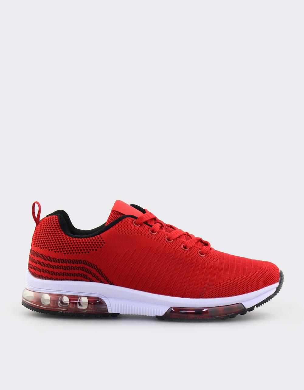 Εικόνα από Ανδρικά sneakers με σχέδιο και αερόσολα Κόκκινο