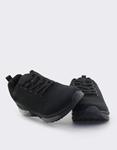 Εικόνα από Ανδρικά sneakers με σχέδιο και αερόσολα Μαύρο