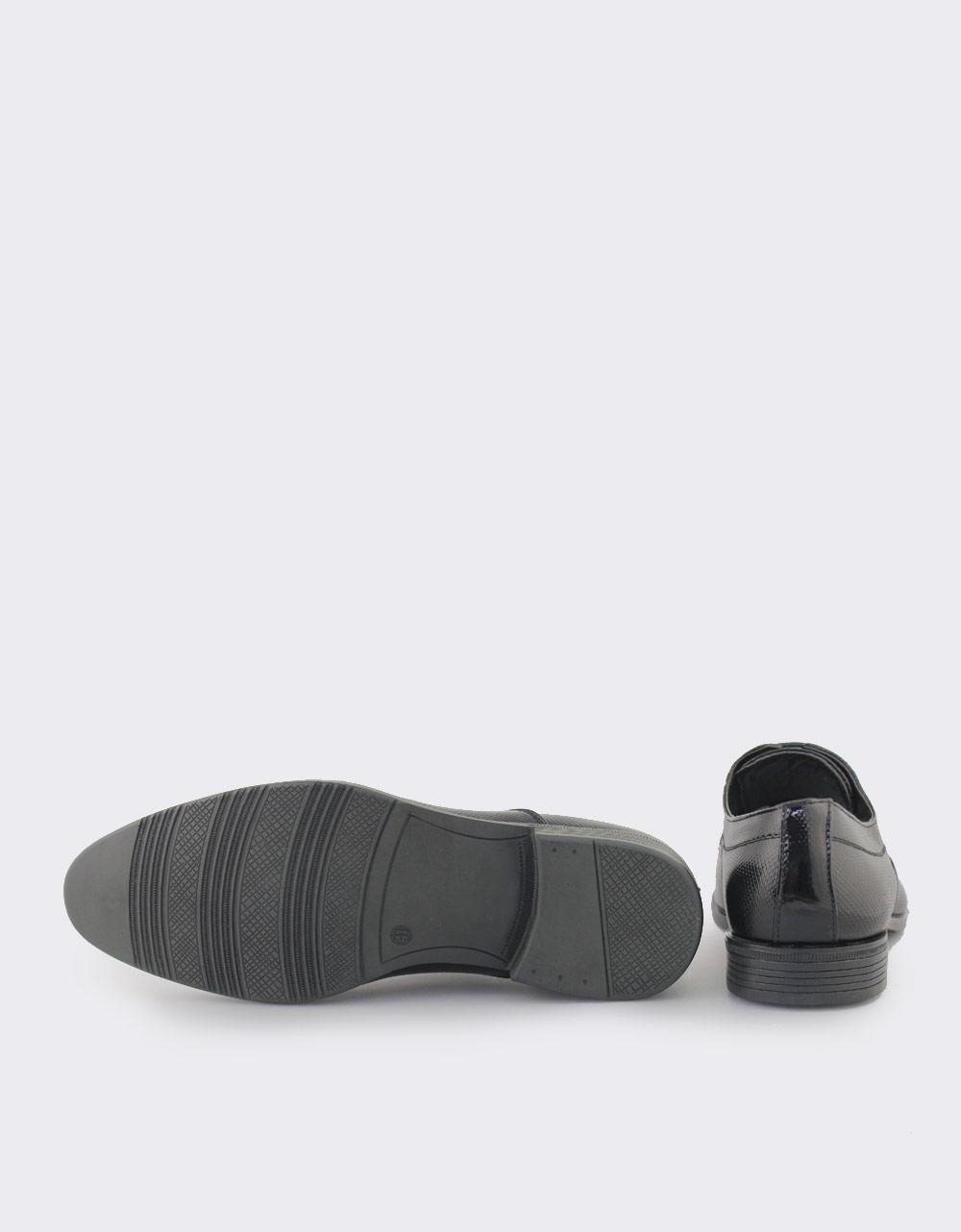 Εικόνα από Ανδρικά loafers με ανάγλυφο σχέδιο Μαύρο