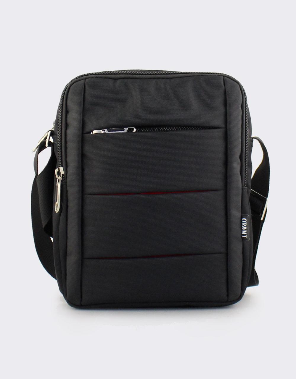 Εικόνα από Ανδρικές τσάντες ώμου μονόχρωμες Μαύρο
