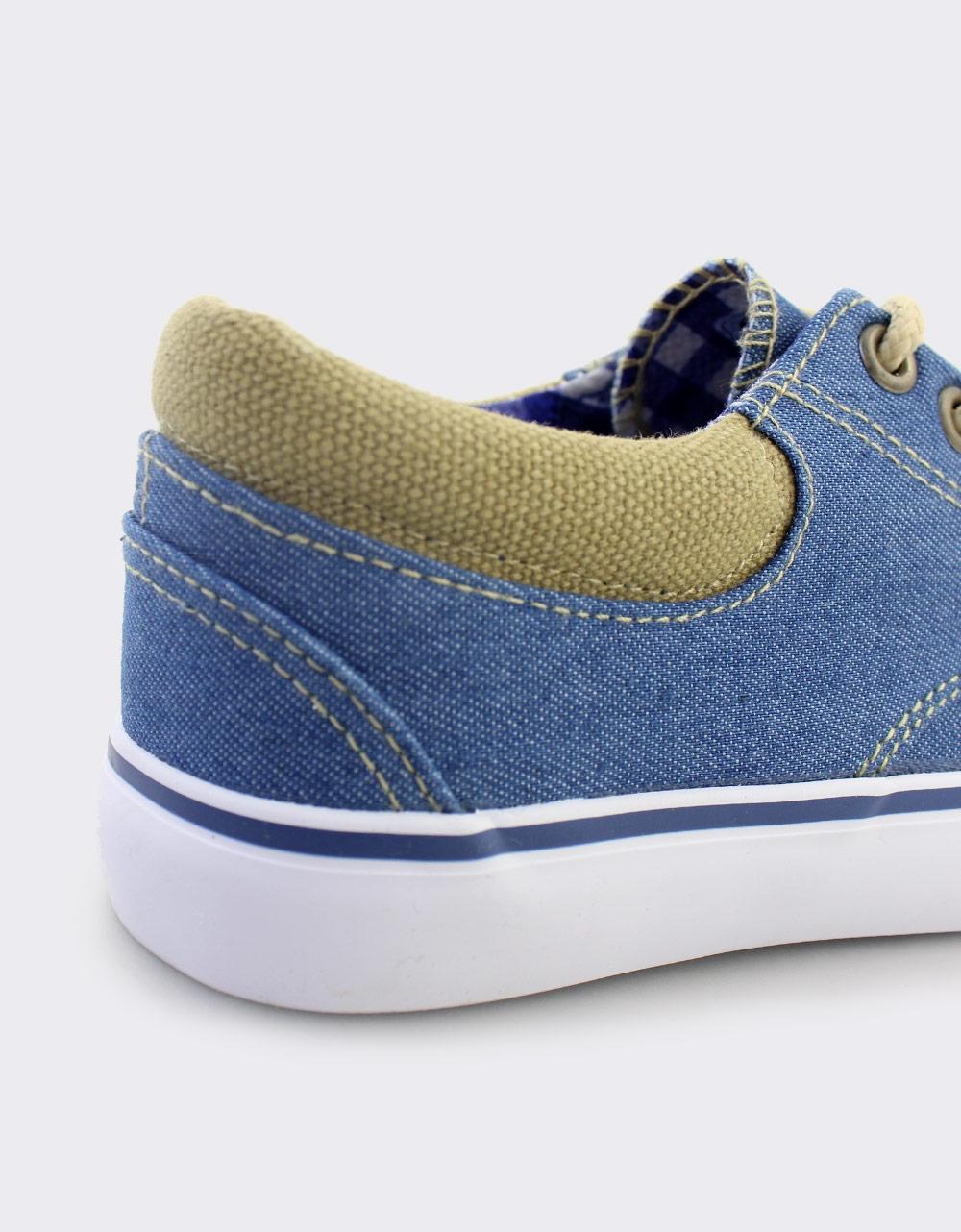 Εικόνα από Παιδικά sneakers με καρό φόδρα Τζιν