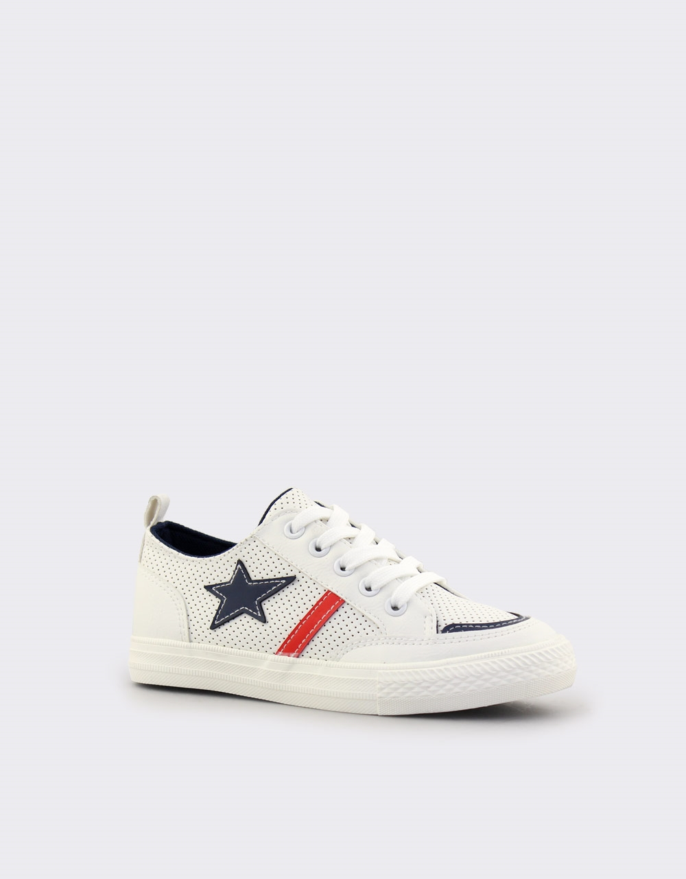 Εικόνα από Παιδικά sneakers με χρωματιστά σχέδια Λευκό