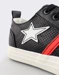 Εικόνα από Παιδικά sneakers με χρωματιστά σχέδια Μαύρο