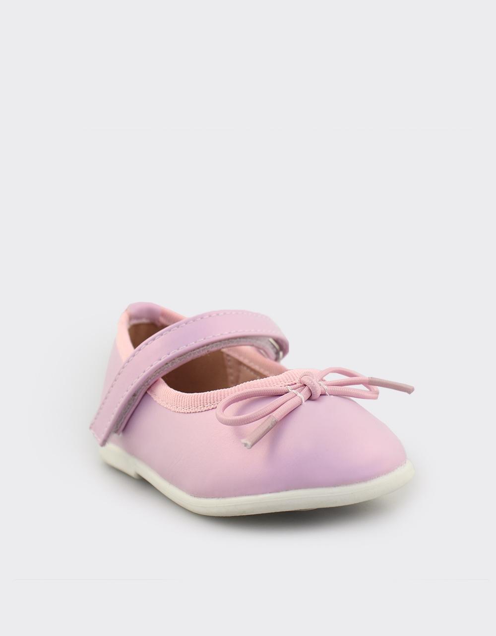 Εικόνα από Παιδικές μπαλαρίνες με φιογκάκι Ροζ