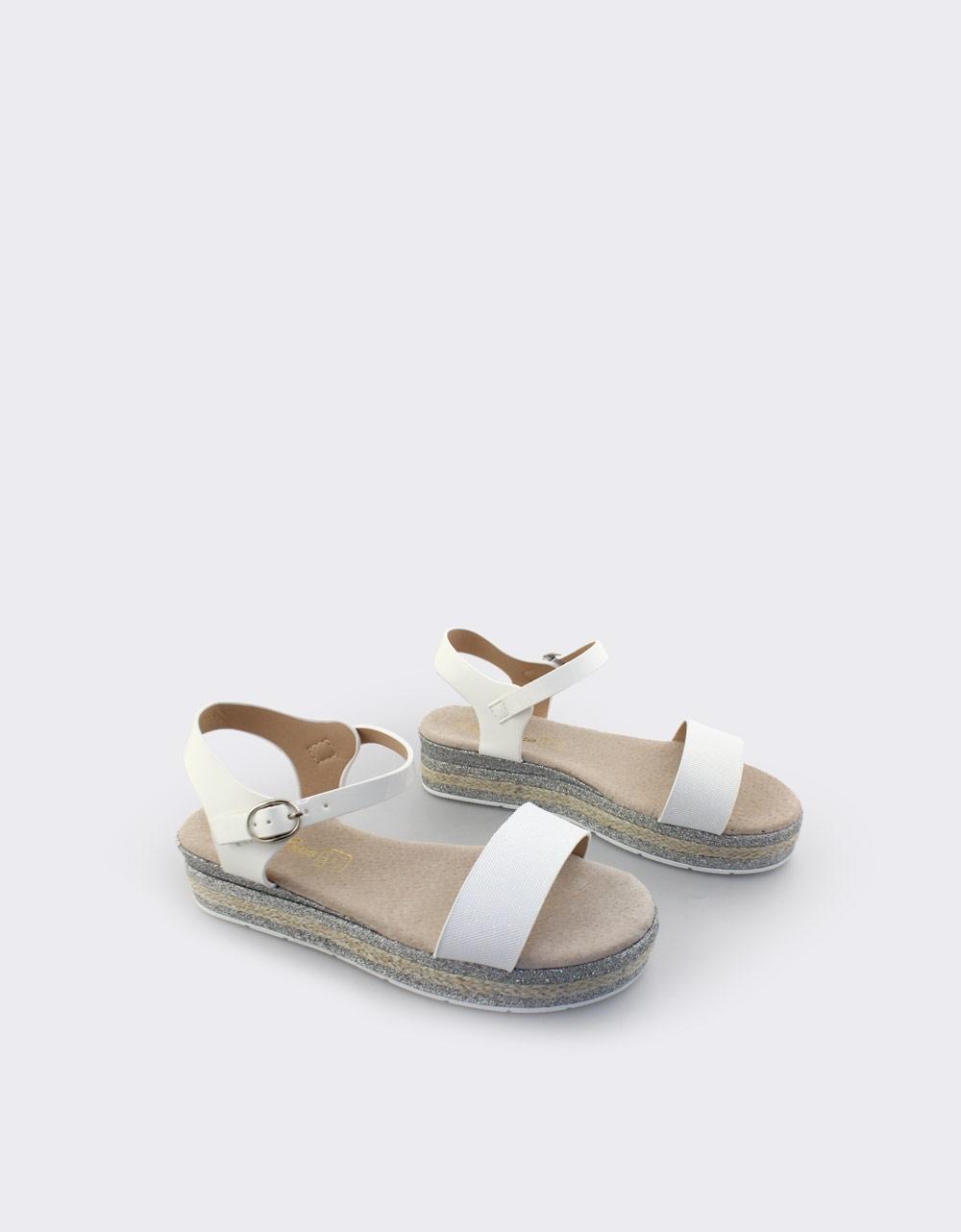5085463878e Inshoes.gr. Παιδικά πέδιλα με μεταλλιζέ λεπτομέρειες | InShoes.gr Λευκό