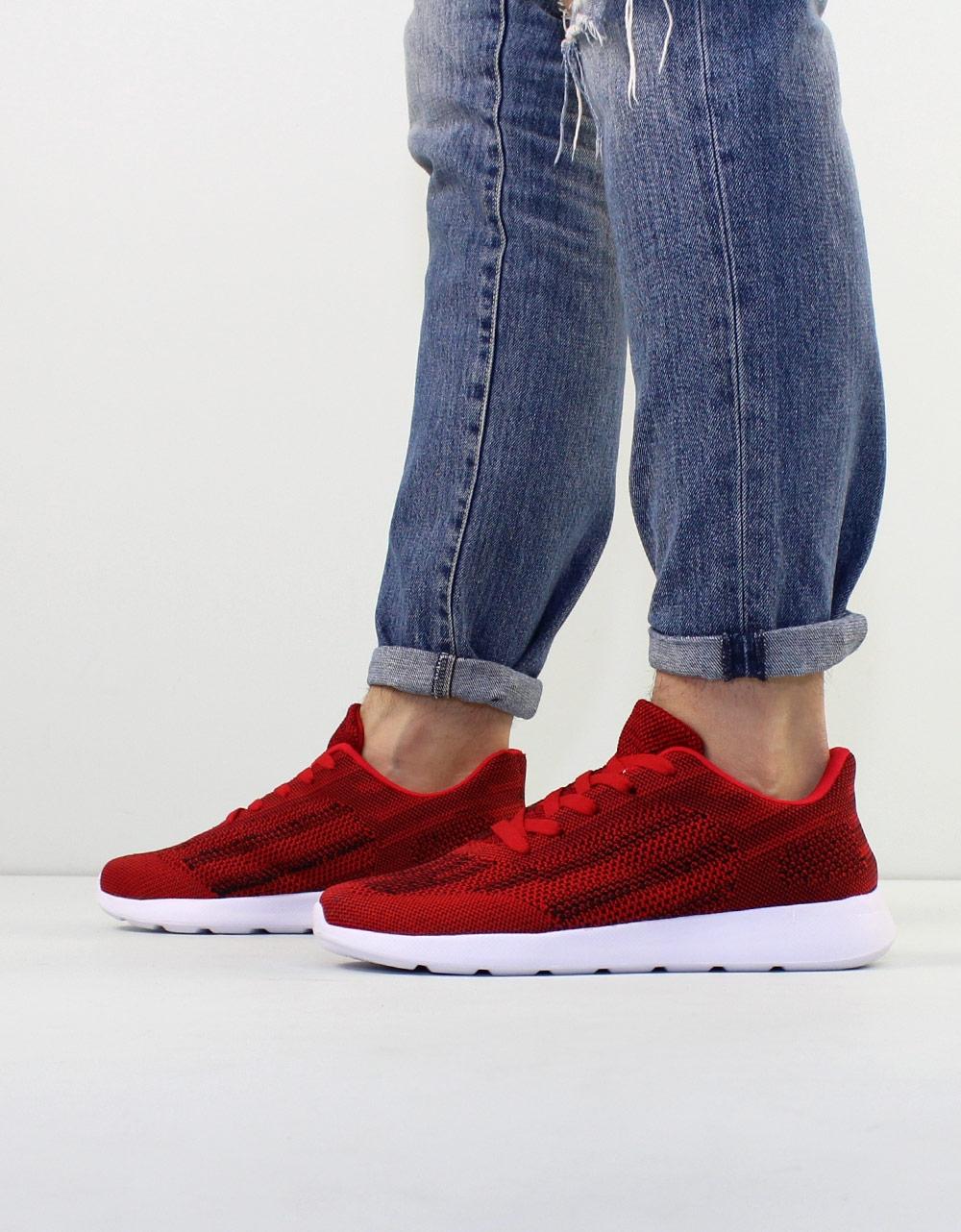 Εικόνα από Ανδρικά sneakers με δίχρωμες λεπτομέρειες Κόκκινο
