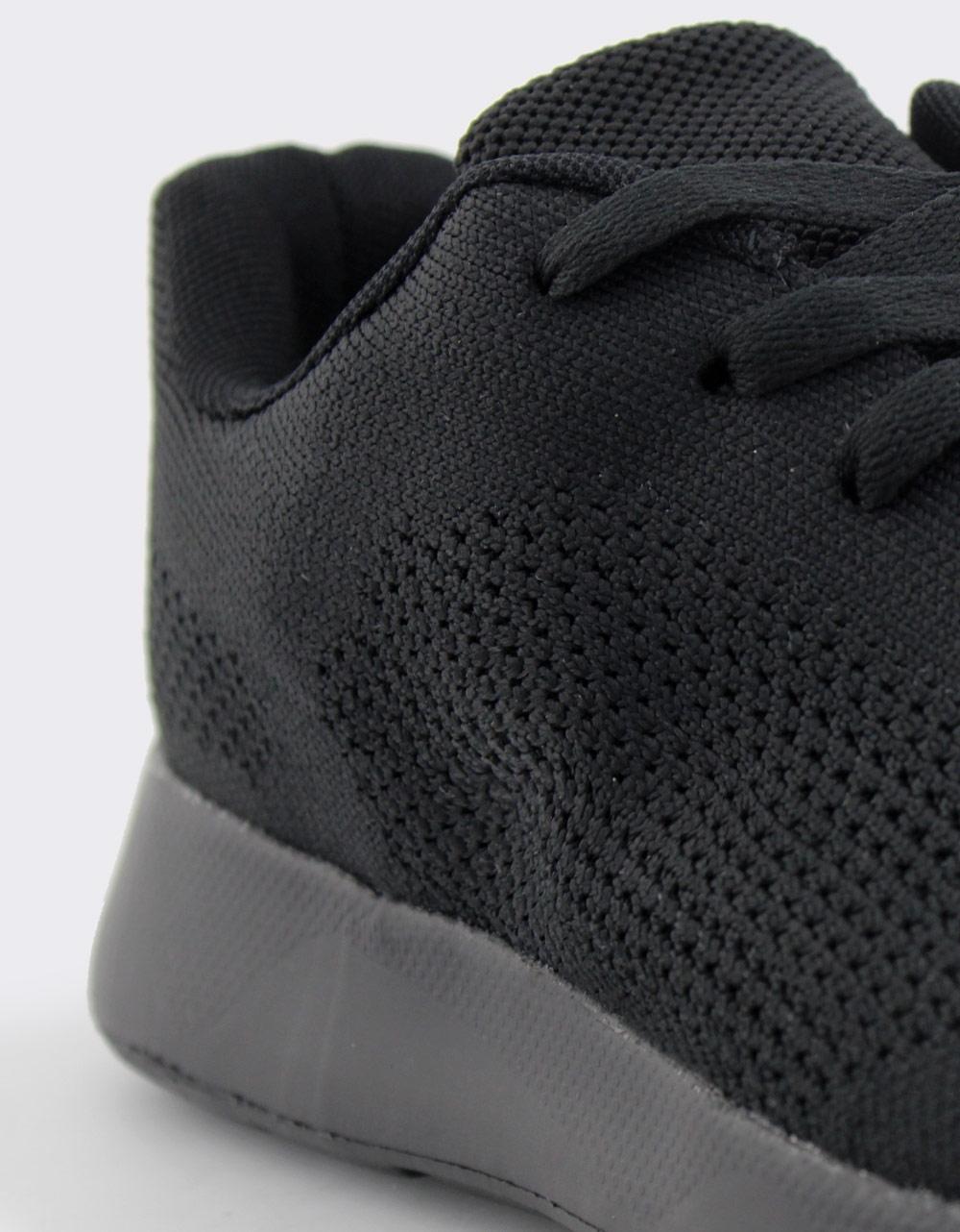 Εικόνα από Ανδρικά sneakers με δίχρωμες λεπτομέρειες Μαύρο