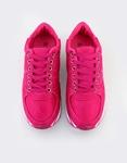 Εικόνα από Γυναικεία sneakers με ρίγα στη σόλα Φούξια