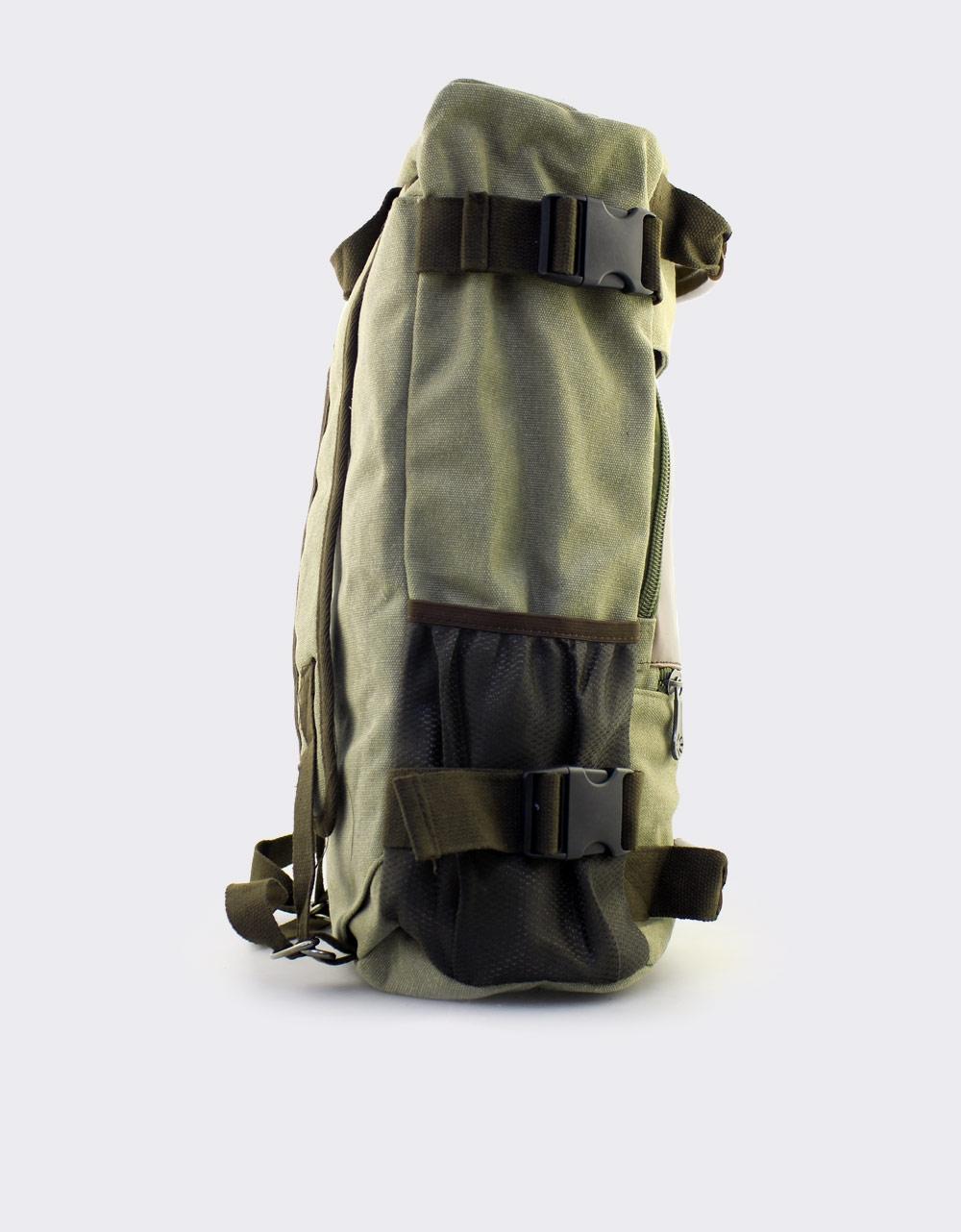 Εικόνα από Ανδρικά σακίδια πλάτης με εξωτερικά φερμουάρ Μπεζ