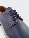 Εικόνα από Ανδρικά loafers δερμάτινα με δίχρωμη λεπτομέρεια Μπλε