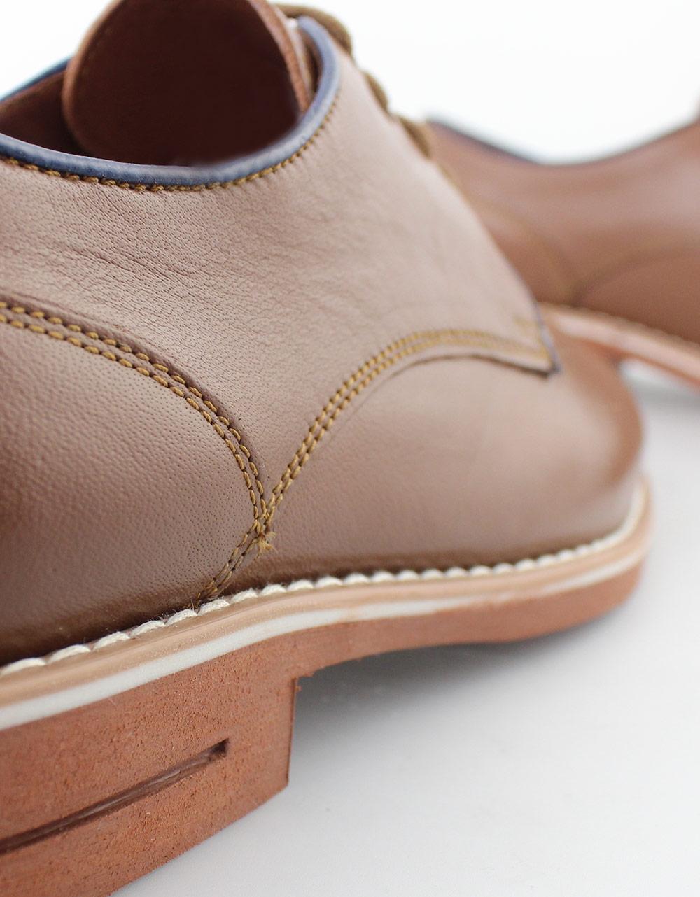 Εικόνα από Ανδρικά loafers δερμάτινα με δίχρωμη λεπτομέρεια Ταμπά