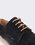 Εικόνα από Ανδρικά loafers δέρμα καστόρι σε απλή γραμμή Μαύρο