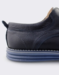 Εικόνα από Ανδρικά loafers δερμάτινα με ραφές Navy