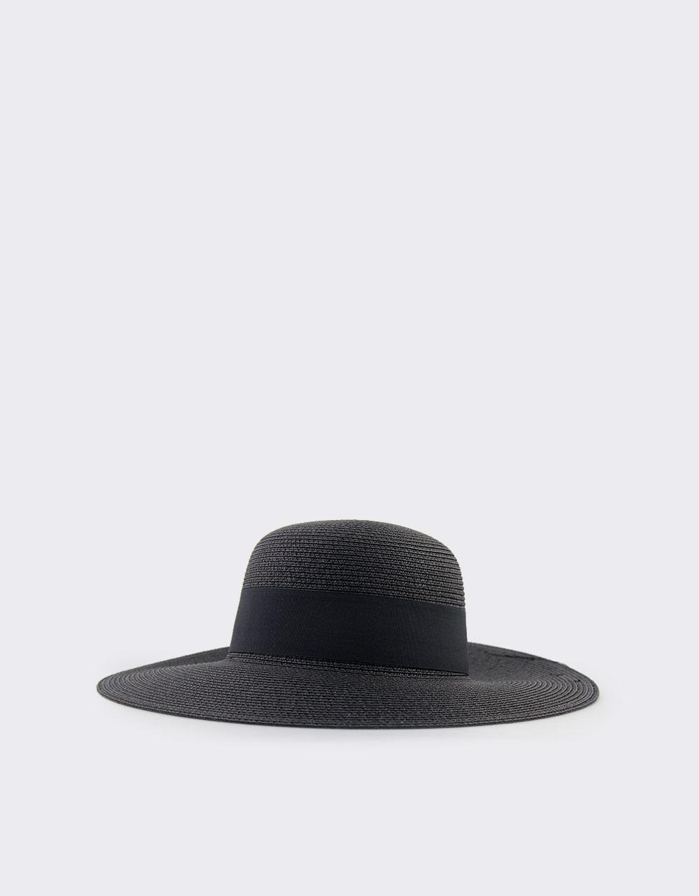 16a2e142b0 Εικόνα από Γυναικεία καπέλα ψάθινα Μαύρο