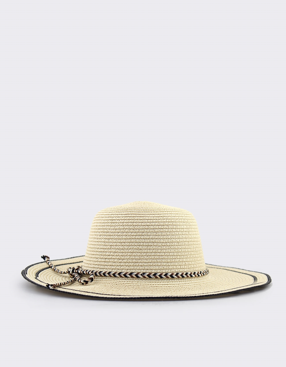 Εικόνα από Γυναικεία καπέλα με πολύχρωμο πλεκτό κορδόνι Πούρο