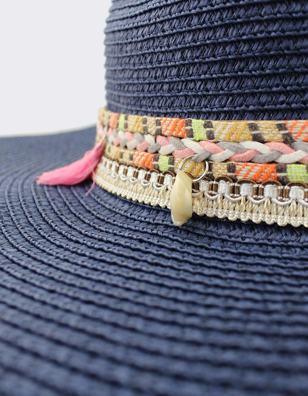 Εικόνα από Γυναικεία καπέλα με διακοσμητική φάσα Μπλε