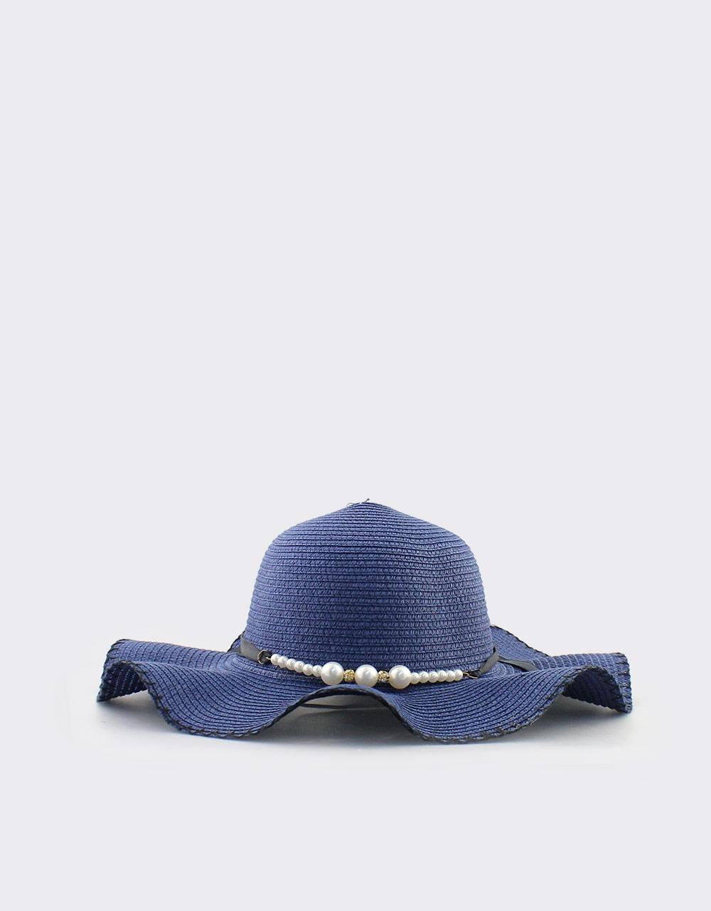 Εικόνα από Γυναικεία καπέλα με διακοσμητικές πέρλες Μπλε