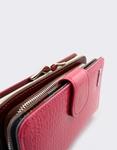 Εικόνα από Γυναικεία πορτοφόλια δερμάτινα με κροκό λουστρίνι Φούξια