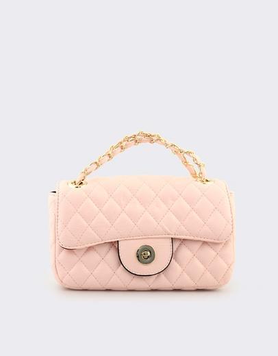 e395287585 Εικόνα της Γυναικείες τσάντες ώμου καπιτονέ με αλυσίδα Ροζ