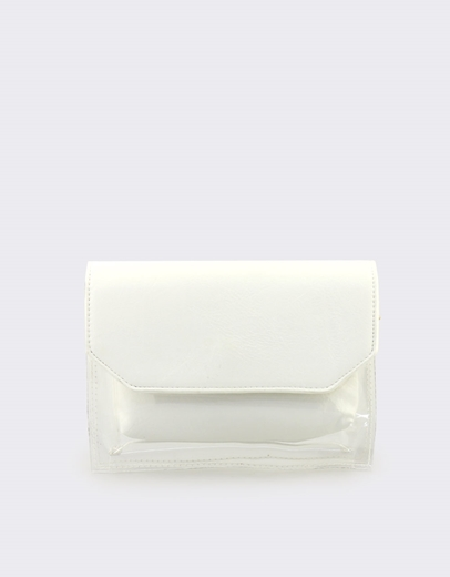 6b9abef99b Εικόνα της Γυναικείες τσάντες ώμου διάφανες με τσαντάκι Λευκό