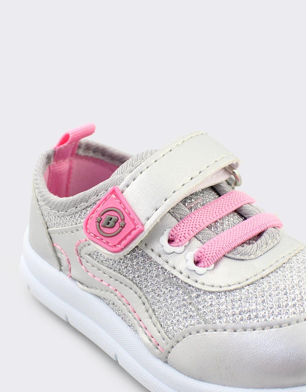 Εικόνα από Παιδικά sneakers μεταλλιζέ Ασημί