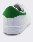 Εικόνα από Γυναικεία sneakers μονόχρωμα περφορέ Λευκό/Πράσινο