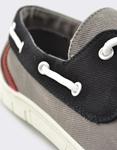Εικόνα από Ανδρικά loafers δίχρωμα Γκρι/Μαύρο