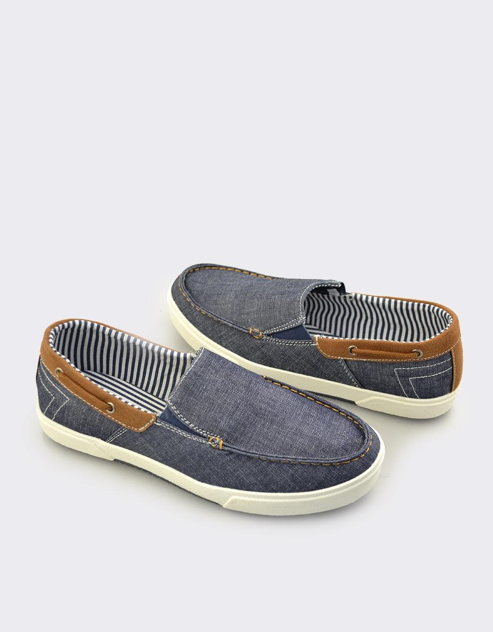 Εικόνα από Ανδρικά loafers υφασμάτινα Μπλε