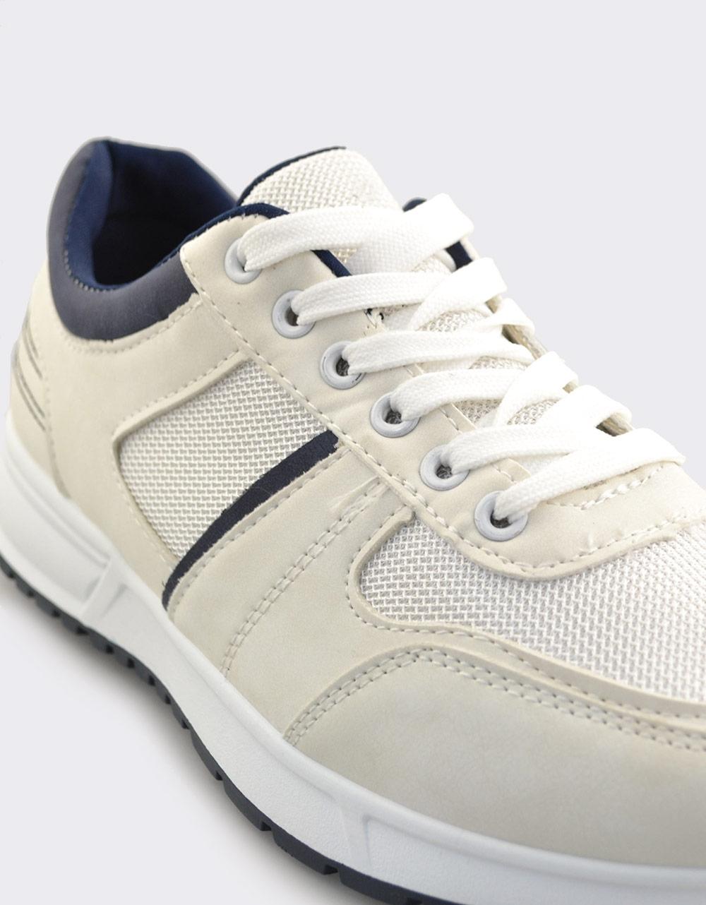 Εικόνα από Ανδρικά sneakers με διακοσμητικές ραφές Λευκό