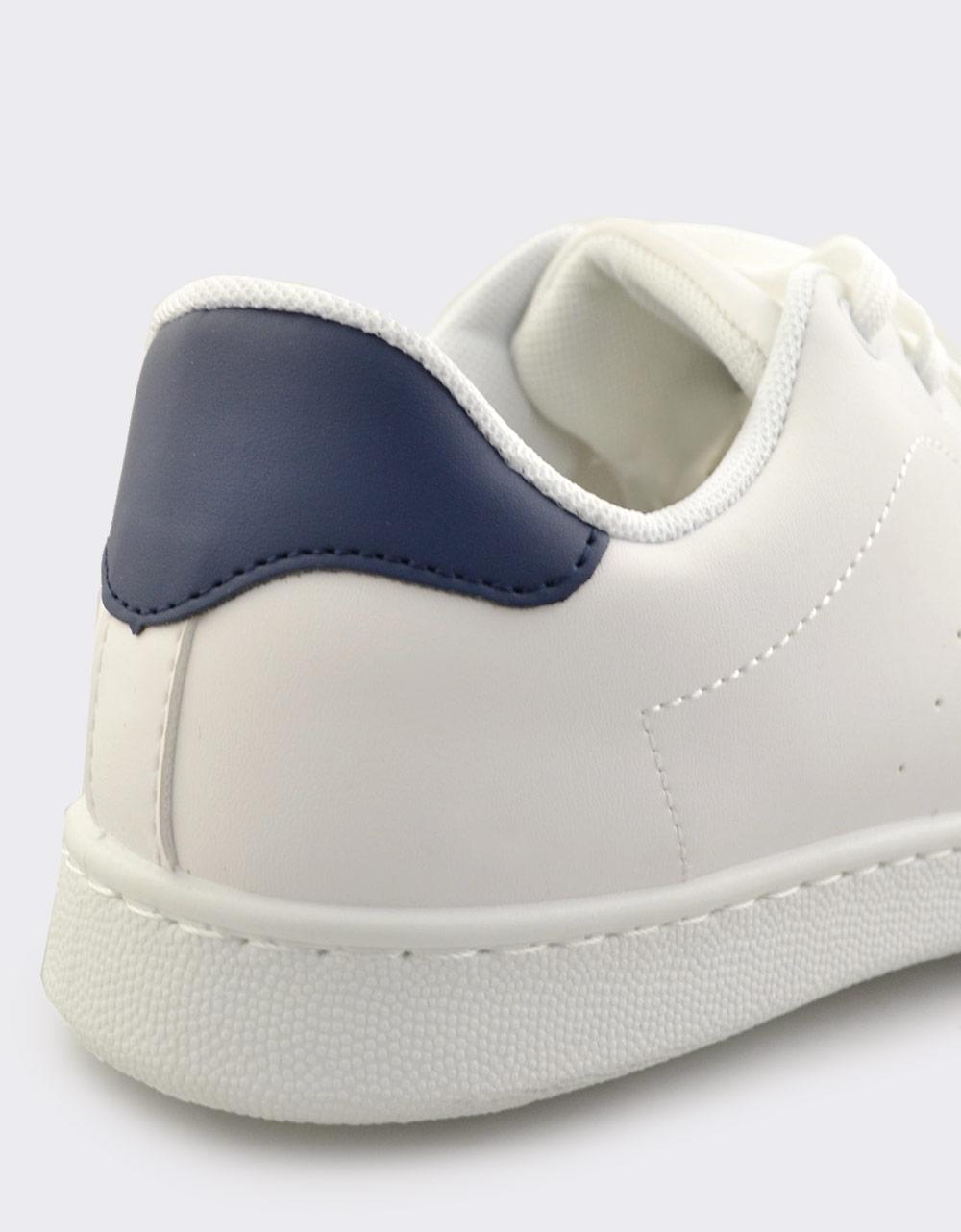 Εικόνα από Ανδρικά sneakers μονόχρωμα Λευκό/Μπλε