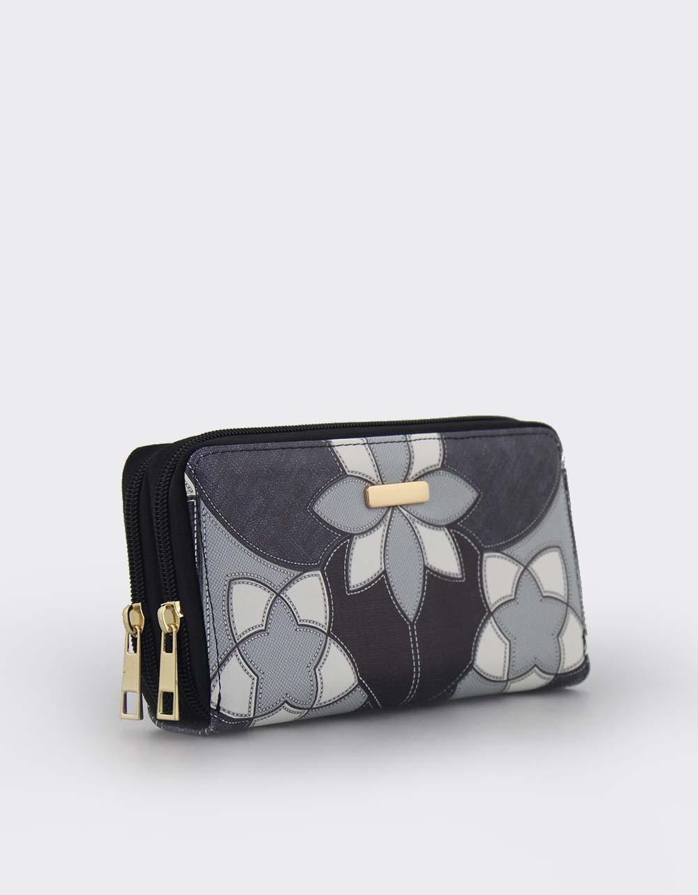 Εικόνα από Γυναικεία πορτοφόλια με σχέδια Μαύρο