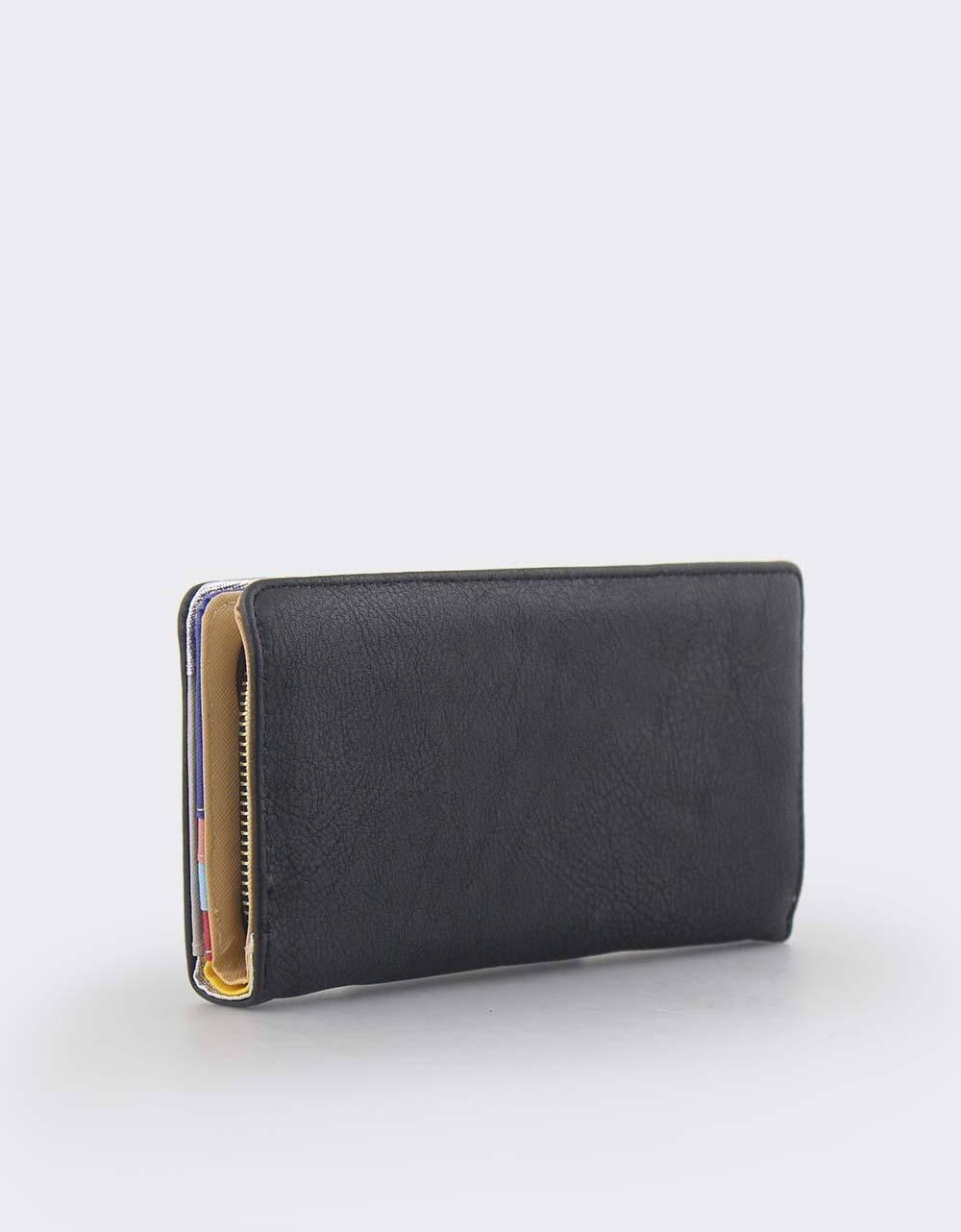 Εικόνα από Γυναικεία πορτοφόλια με εξωτερική θήκη Μαύρο