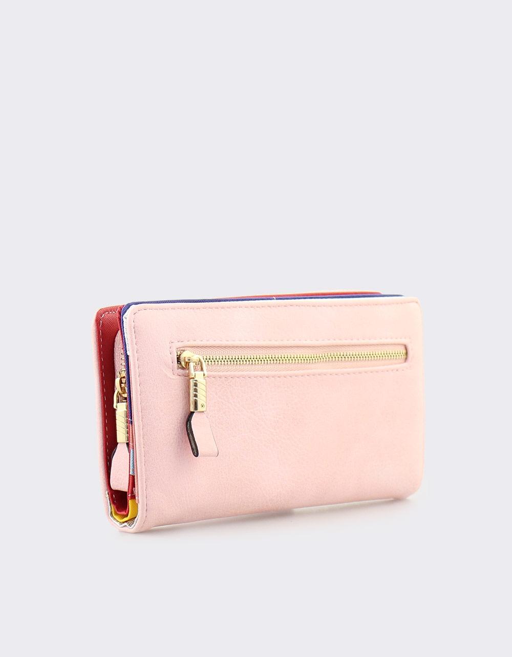 Εικόνα από Γυναικεία πορτοφόλια με εξωτερική θήκη Ροζ