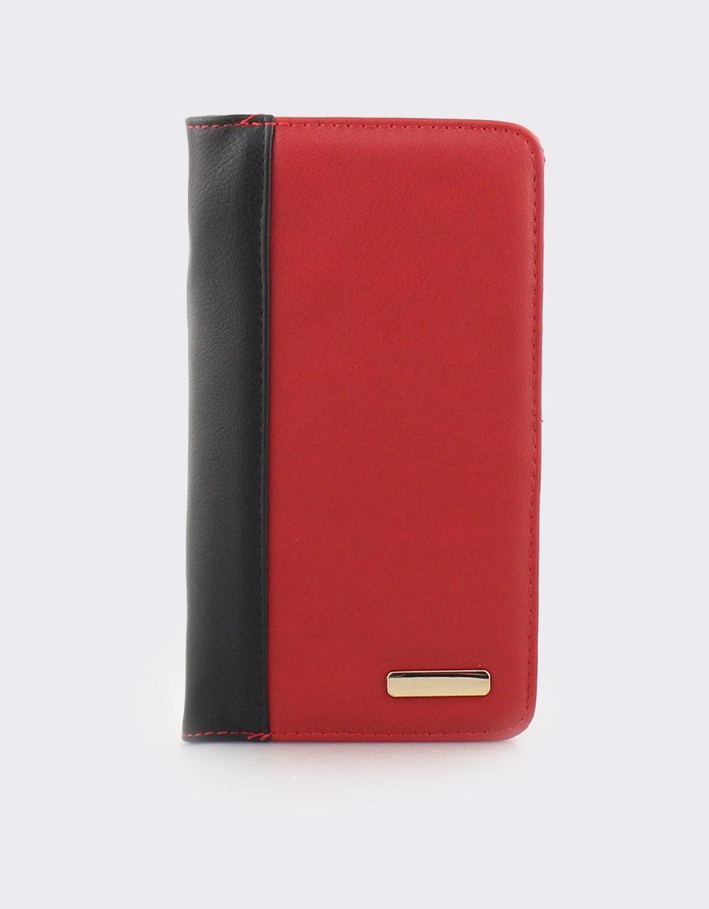 677c34f026 Εικόνα από Γυναικεία πορτοφόλια με λεπτομέρεια από ραφή Κόκκινο